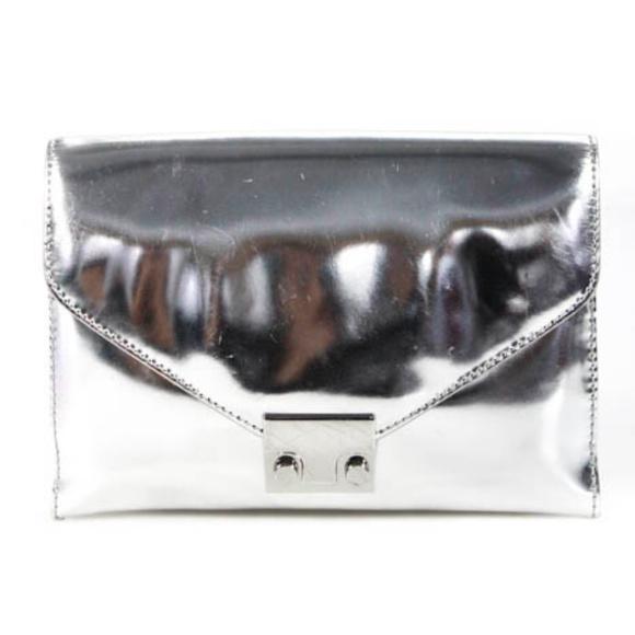 Loeffler Randall Handbags - LOEFFLER RANDALL Petite Silver Lock Clutch